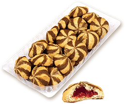 Бисквити Флирт с конфитюр малина