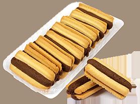 Бисквити Париж с какаов крем