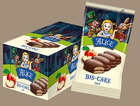 Бис-кейк Алиса с мармалад ябълка