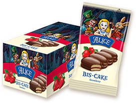 Бис-кейк Алиса с конфитюр ягода